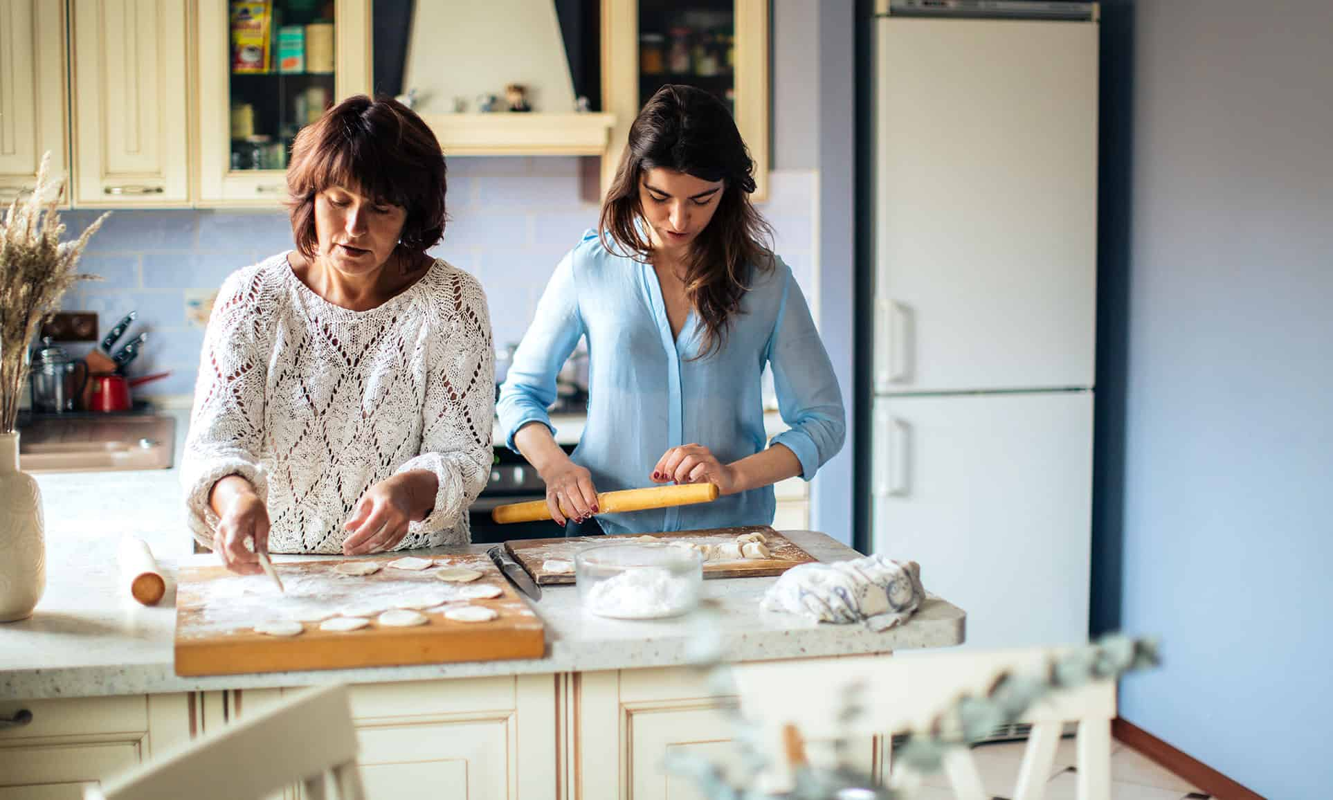 labeling food as good or bad - baking together