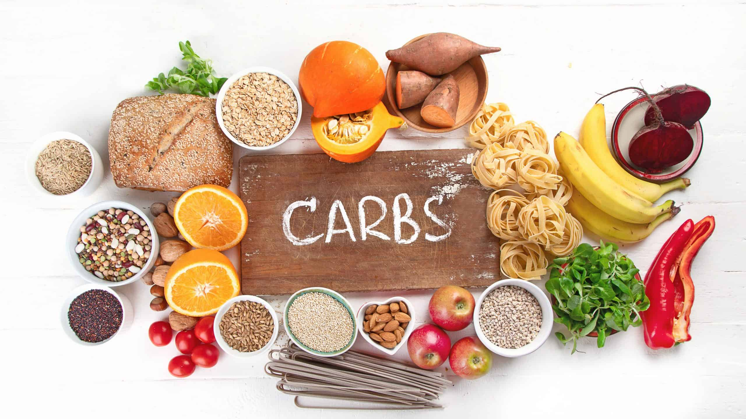 Infographic image on breaking down carbs