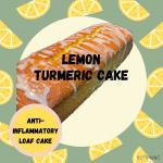 Lemon Turmeric Cake with lemons