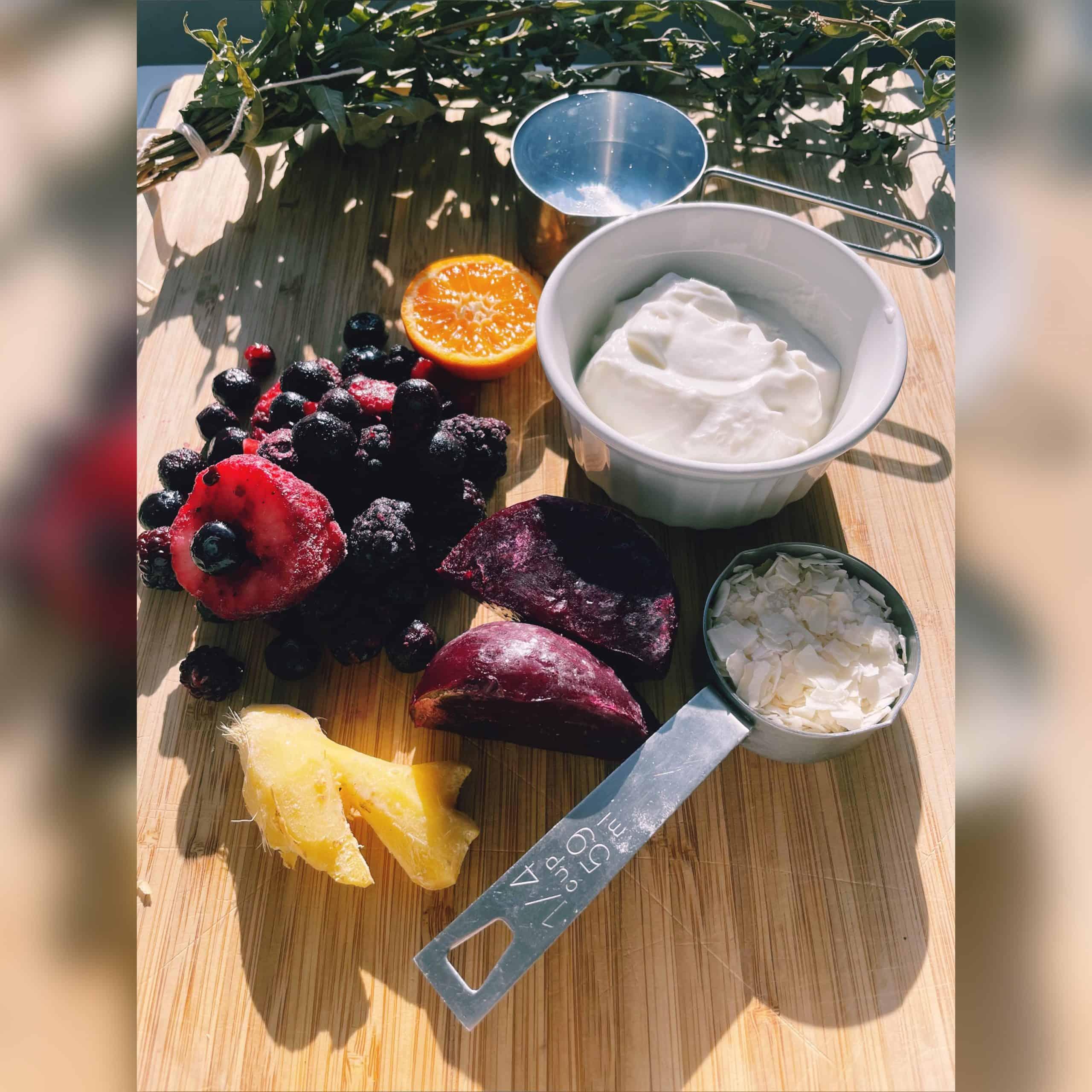 Beet Smoothie Ingredients